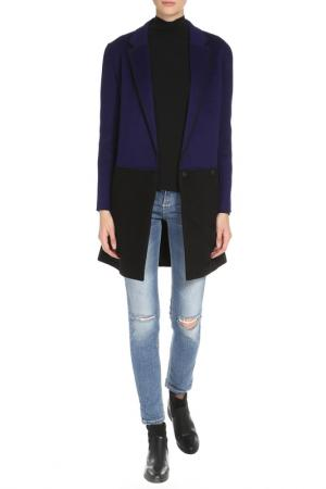 Пальто DVF. Цвет: синий, черный
