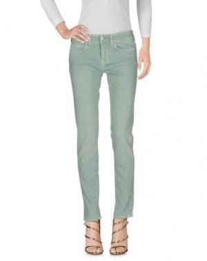 Джинсовые брюки NOTIFY. Цвет: светло-зеленый