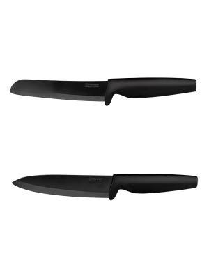Нож кухонный Rondell RD-464. Цвет: черный