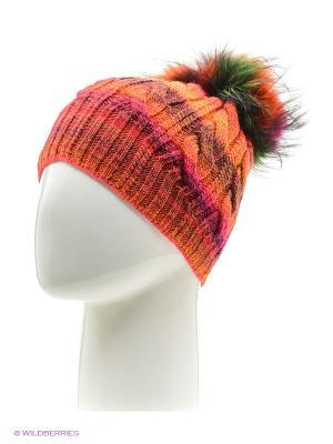Шапка FOMAS. Цвет: оранжевый, малиновый