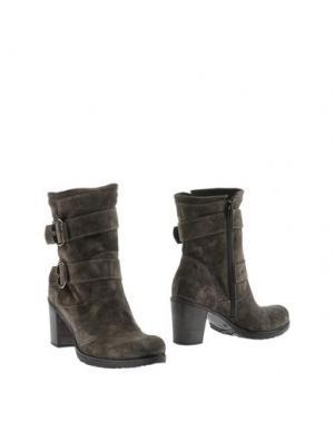Полусапоги и высокие ботинки EMANUELA PASSERI. Цвет: стальной серый