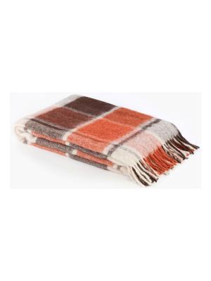 Плед шерсть, 140х200 IQ-KOMFORT. Цвет: бледно-розовый, оранжевый, бежевый