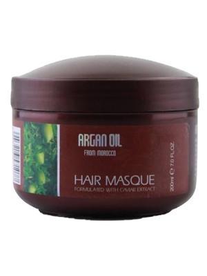 Питательная  увлажнящая маска для волос Morocco Argan Oil. Цвет: белый