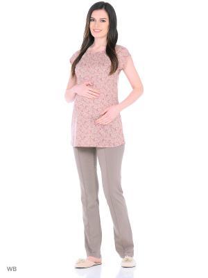 Комплект женский для беременных и кормящих Hunny Mammy. Цвет: коричневый, бежевый, розовый