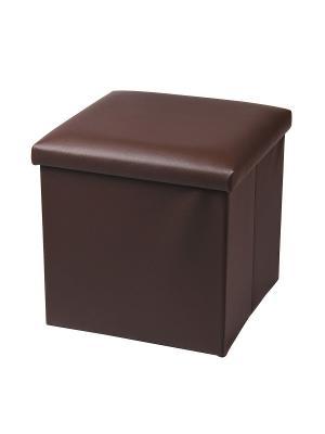 Пуф с местом для хранения Miolla. Цвет: коричневый