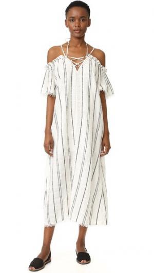 Макси-платье Isla Red Carter. Цвет: черная полоска