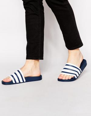 Adidas Originals Шлепанцы Adilette G16220. Цвет: синий