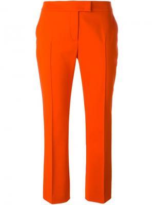 Укороченные брюки Akris. Цвет: жёлтый и оранжевый
