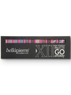Bellapierre cosmetics TEP001 Go Smokey Палитра из 12 компактных пигментов. Цвет: бежевый