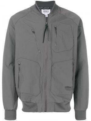 Спортивная куртка  Originals Urban Adidas. Цвет: серый