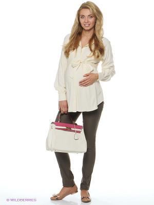 Блузка для беременных и кормящих ФЭСТ. Цвет: молочный