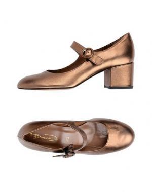 Туфли BIANCA DI. Цвет: бронзовый