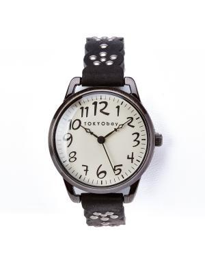 Часы Tokyobay Scallop Black. Цвет: черный