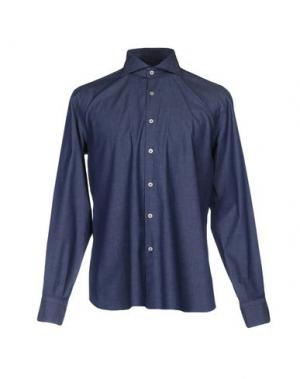 Pубашка DOMENICO TAGLIENTE. Цвет: синий