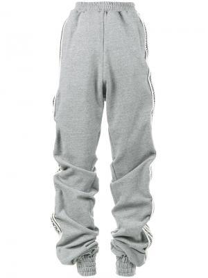 Спортивные брюки в стиле оверсайз Y / Project. Цвет: серый