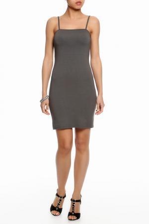 Платье Shes so. Цвет: серый