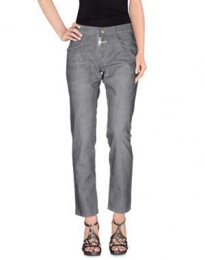 Джинсовые брюки LE JEAN DE MARITHÉ + FRANÇOIS GIRBAUD. Цвет: серый