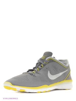 Кроссовки WMNS FREE 5.0 TR FIT 5 Nike. Цвет: серый, серый меланж, серо-зеленый