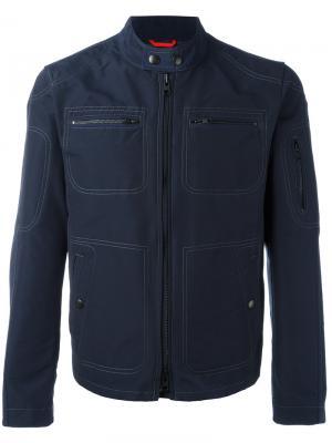 Collarless jacket Fay. Цвет: синий