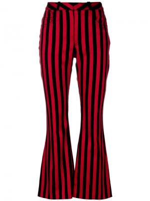 Полосатые брюки клеш Marquesalmeida Marques'almeida. Цвет: чёрный