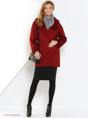 Пальто Бэль CLABIN. Цвет: бордовый
