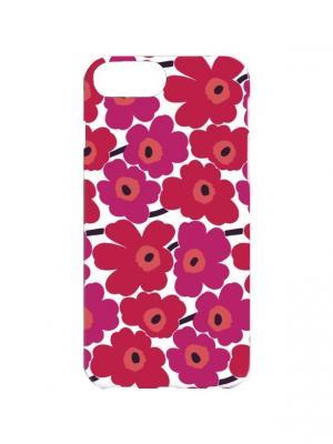 Чехол для iPhone 7Plus Малиновые ромашки Арт. 7Plus-095 Chocopony. Цвет: малиновый, розовый