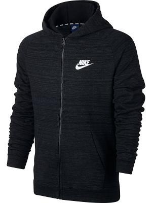 Толстовка M NSW HOODIE FZ AV15 KNIT Nike. Цвет: черный