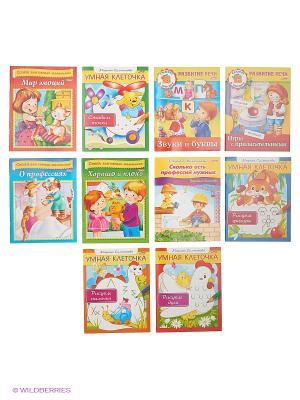 Комплект развивающие книжки №8 (10 видов) Издательство Хатбер-пресс. Цвет: белый