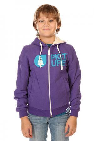 Толстовка утепленная детская  Sweat Basement Plush Purple Picture Organic. Цвет: фиолетовый