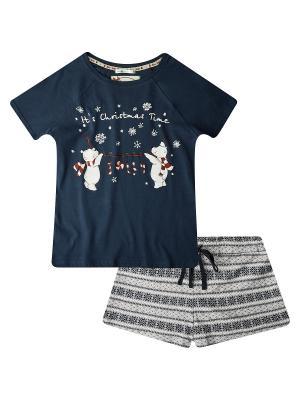 Пижама Oodji. Цвет: темно-синий