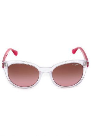 Очки солнцезащитные Vogue. Цвет: серебряный