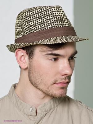 Шляпа Canoe. Цвет: коричневый, кремовый