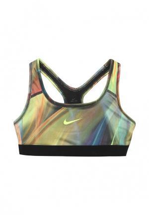 Топ спортивный Nike. Цвет: разноцветный