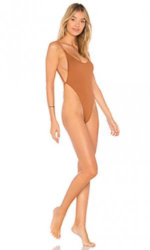 Слитный купальник the oasis ii MINIMALE ANIMALE. Цвет: коричневый