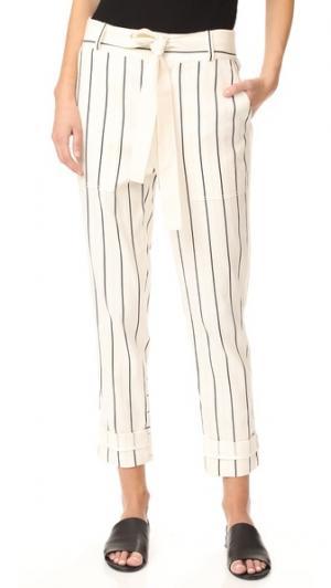 Практичные брюки с кулиской Derek Lam 10 Crosby. Цвет: мягкий белый