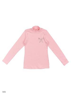 Водолазка для девочки Bonito kids. Цвет: розовый, желтый, серый