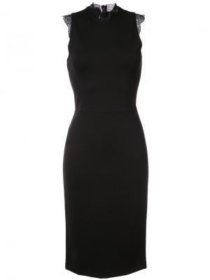 Платье-кокон с кружевной отделкой Amanda Uprichard. Цвет: чёрный