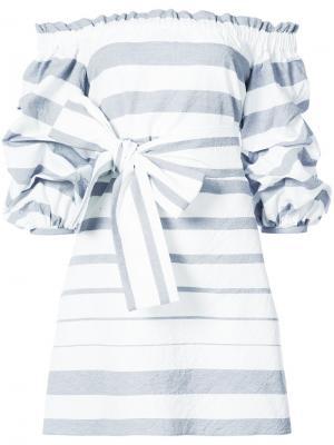 Платье с оборками Alexis. Цвет: синий