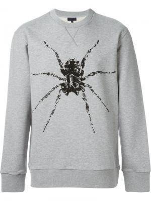 Толстовка с принтом паука Lanvin. Цвет: серый