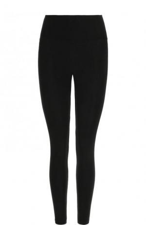Однотонные укороченные брюки-скинни James Perse. Цвет: черный