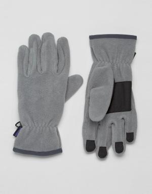 Patagonia Серые перчатки Synchilla. Цвет: серый