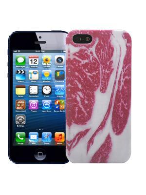 Чехол для iPhone 5/5s Мясо Kawaii Factory. Цвет: лиловый, белый