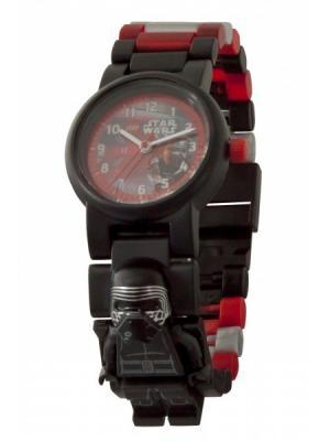 Часы наручные аналоговые LEGO Star Wars Episode 7 с минифигурой Kylo Ren на ремешке Lego.. Цвет: черный, красный