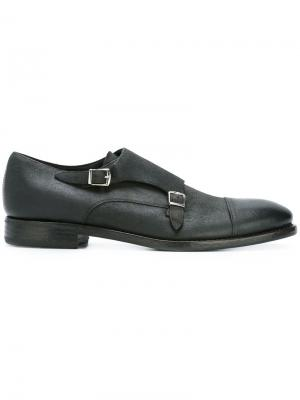 Классические туфли монки Henderson Baracco. Цвет: серый