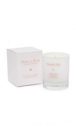 Свеча Make a Wish to Say Thank You Gift Boutique