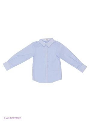 Рубашка Born. Цвет: белый, голубой