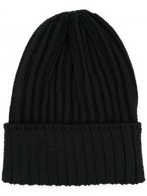 Ribbed knit beanie Kijima Takayuki. Цвет: чёрный