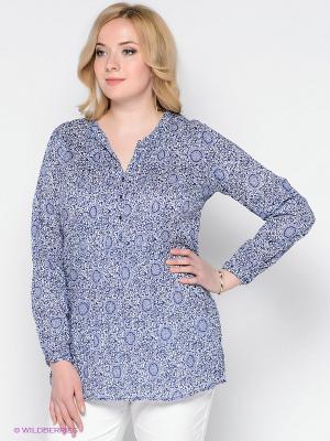 Блузка Vis-a-vis. Цвет: синий, белый