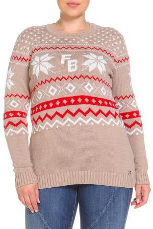 Пуловер FIORA BLUE. Цвет: серо-коричневый