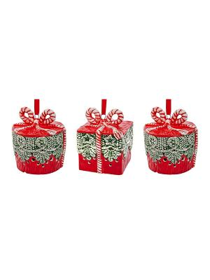 Набор Украшений Mister Christmas. Цвет: красный